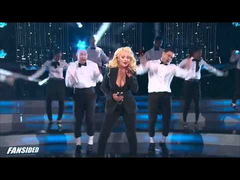 2015 NBA All Star Game Christina Aguilera and Nas Intro - YouTube