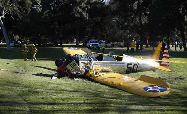 米俳優ハリソン・フォード氏、小型機墜落で重傷か