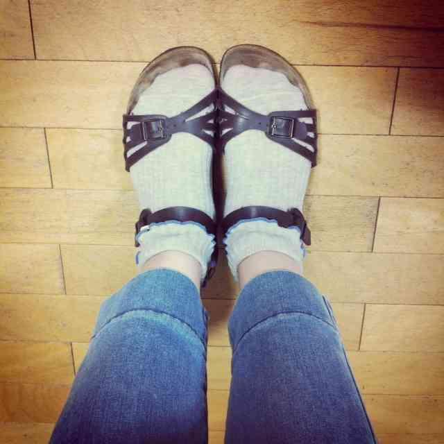 サンダル×靴下…どう思いますか?!