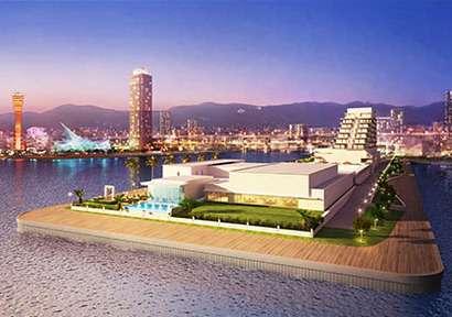 神戸新港第1突堤に建設中の「ラ・スイート神戸オーシャンズガーデン」が12月にオープンするそうな。結婚式や温泉など! - 神戸ジャーナル
