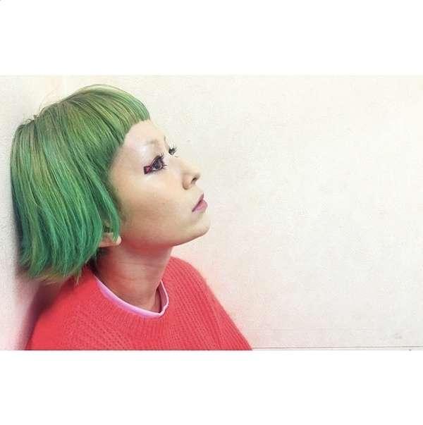 木村カエラ、緑髪にイメチェン 個性溢れるヘアスタイルに反響 - モデルプレス