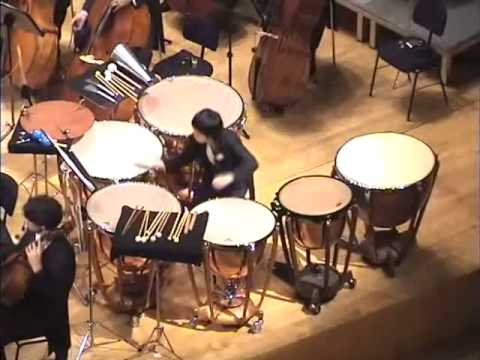 マウリシオ・カーゲル「ティンパニとオーケストラのための協奏曲」with Rie Watanabe - YouTube