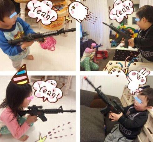 辻希美、銃のおもちゃで遊ぶ子供の画像をブログに掲載し「不謹慎」「不適切」と大炎上