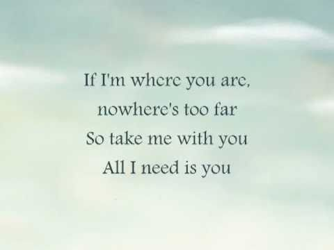 I Will Be There With You - Katharine McPhee (lyrics) - YouTube