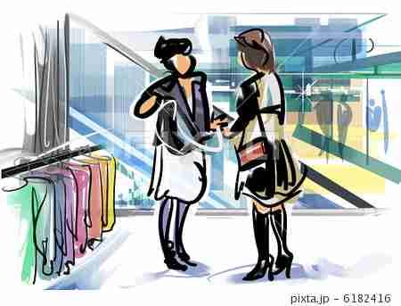 大型スーパー直営の婦人服売り場で服を買いますか??