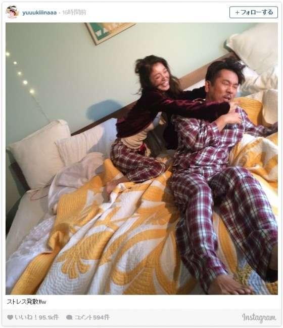 木下優樹菜、藤本敏史とベッドで大はしゃぎ!「仲良さそう」の声が殺到
