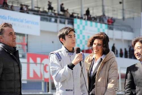 ジャン・アレジと後藤久美子の息子ジュリアーノ、鈴鹿で日本初走行を披露
