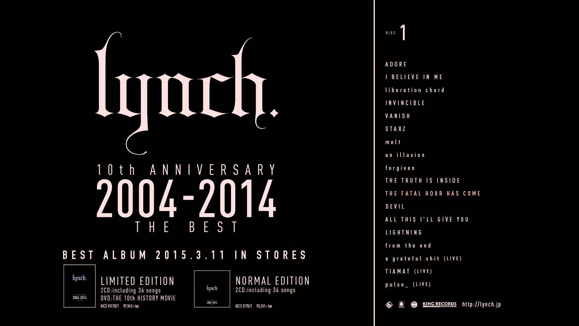 「10th ANNIVERSARY 2004-2014 THE BEST」試聴disc1 HD - YouTube