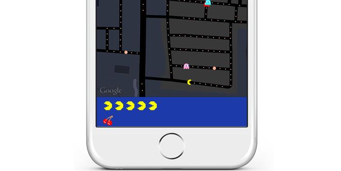 Googleマップに地図でパックマンを遊べるモードが追加〜iPhoneでもプレイ可能