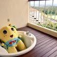 """ふなっしー、南国のジャグジーで優雅に入浴。""""ナッシーバカンス""""満喫中!?"""