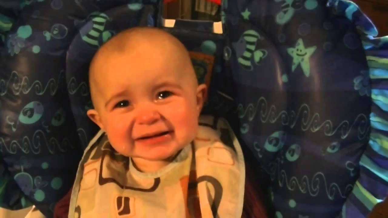Baby Cries When Mom Sings - YouTube