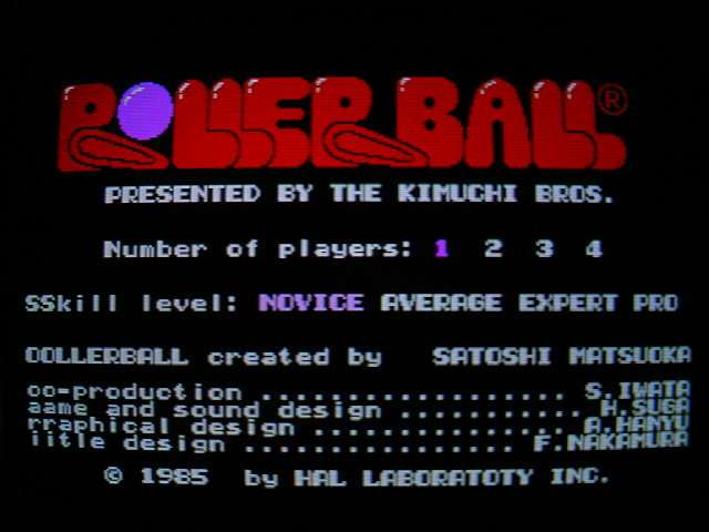 X1用ソフト ローラーボール (HAL研究所) 1985年 #前編