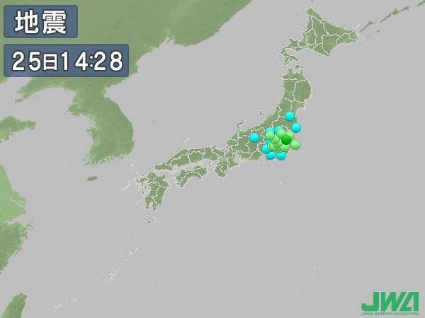 【地震】埼玉県北部で最大震度5弱 マグニチュード5.6、津波の心配なし