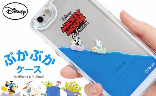 ディズニーキャラのぷかぷかiPhoneケース、ミッキーたちが浮かんで動く。 | Narinari.com