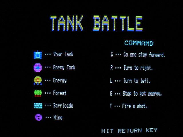 FM-7用ソフト タンクバトル TANK BATTLE (アスキー) 1983年