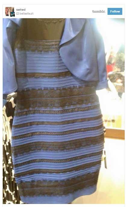 青?白?で話題のドレス、大反響で売り上げ4倍!白と金のドレスも売り出すことに