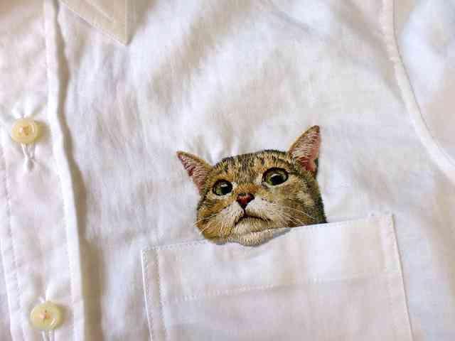 ポケットにリアルな猫? 主婦の手作りシャツに注文殺到:朝日新聞デジタル