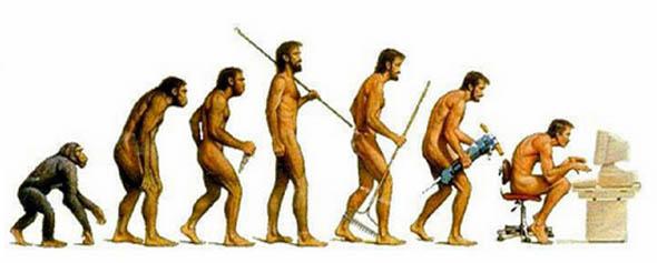 人間の進化の風刺