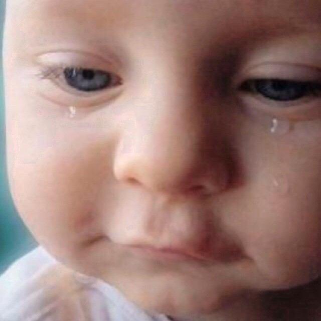 涙の粒赤ちゃん