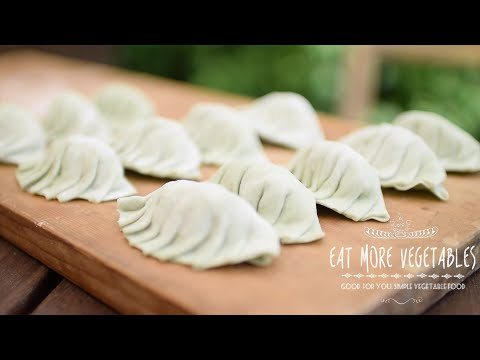 スピルリナ入り野菜餃子のつくり方:How to Make Vegan Spirulina Dumplings | EAT MORE VEGETABLES - YouTube