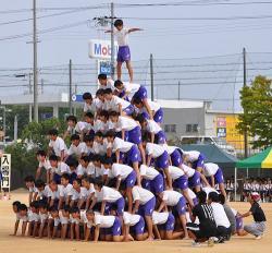 運動会の組体操について。