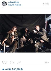 ローラ、映画「バイオハザード」女戦士・コバルト姿を公開 称賛と応援の声相次ぐ