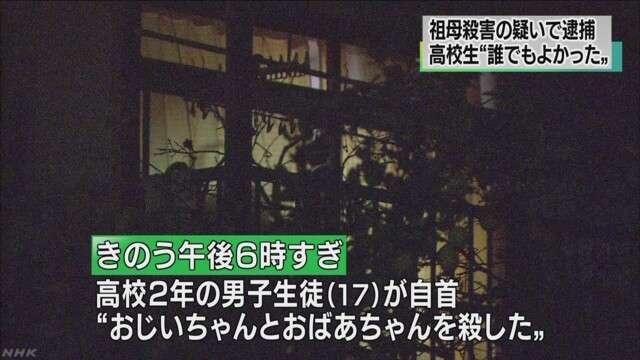 自首の男子高校生 祖母殺害の疑いで逮捕 NHKニュース
