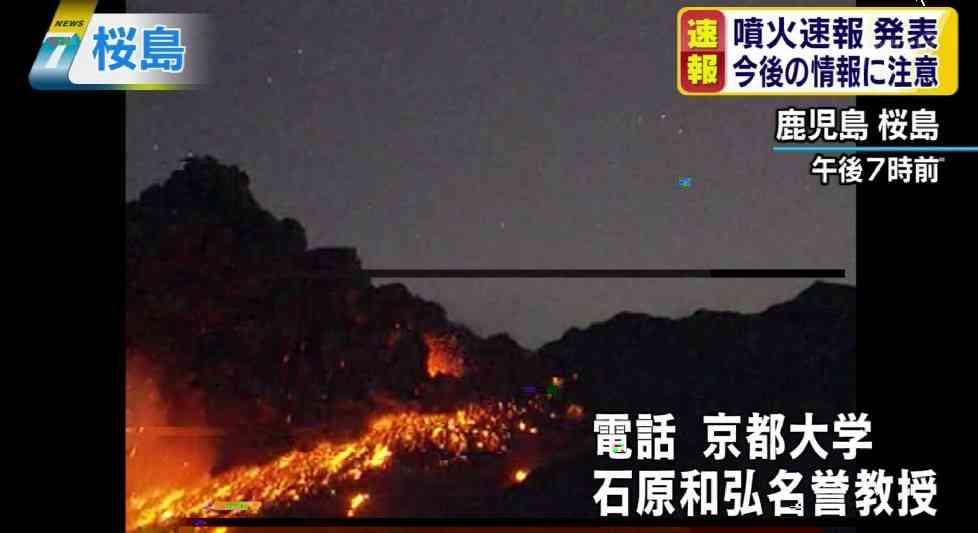 鹿児島市の桜島に噴火速報 気象庁