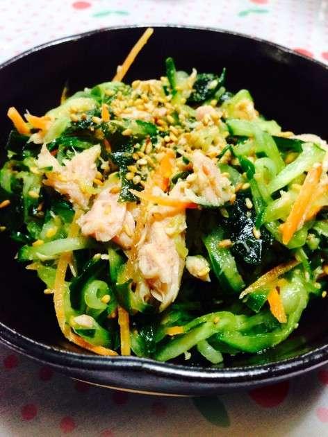 わかめとツナときゅうりの中華風♡サラダ by ひとあゆ33 [クックパッド] 簡単おいしいみんなのレシピが231万品