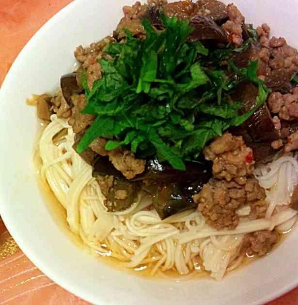 挽肉と茄子のピリ辛素麺 by agochi [クックパッド] 簡単おいしいみんなのレシピが231万品
