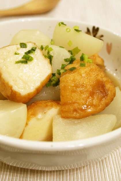 ふわとろ♪かぶと魚河岸揚げの煮物 by きちりーもんじゃ [クックパッド] 簡単おいしいみんなのレシピが231万品