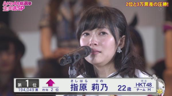 【AKB総選挙】HKT48指原莉乃が返り咲き女王…地元開催で1位に!