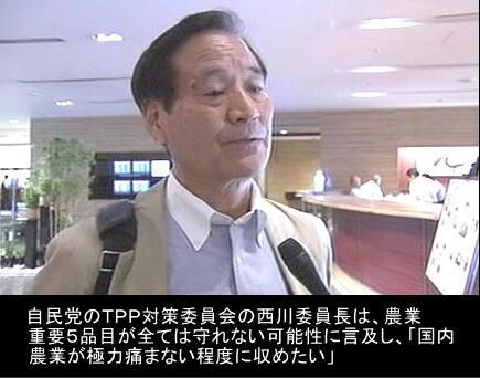 西川TPP復帰で「甘利・参院選出直し」のモラル完全崩壊政党 | カレイドスコープ