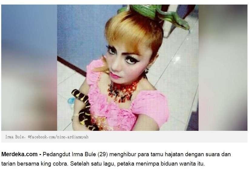 【海外発!Breaking News】ステージで毒蛇に噛まれた女性歌手、解毒剤を断り死亡(インドネシア) | Techinsight|海外セレブ、国内エンタメのオンリーワンをお届けするニュースサイト