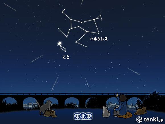 今夜は、こと座流星群とミニマムーン(日直予報士) - 日本気象協会 tenki.jp