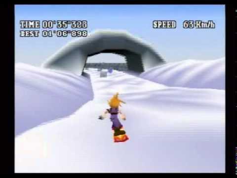 FF7 スノーボード コースB 100点 - YouTube