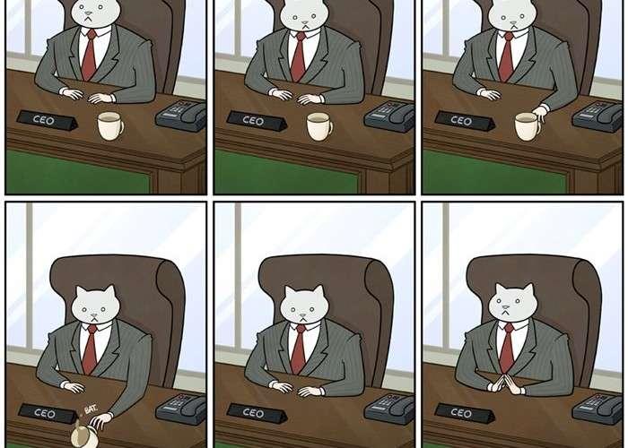 猫を飼っている人なら共感できるシュールなコミック「THE ADVENTURES OF BUSINESS CAT 」が面白い | FunDO