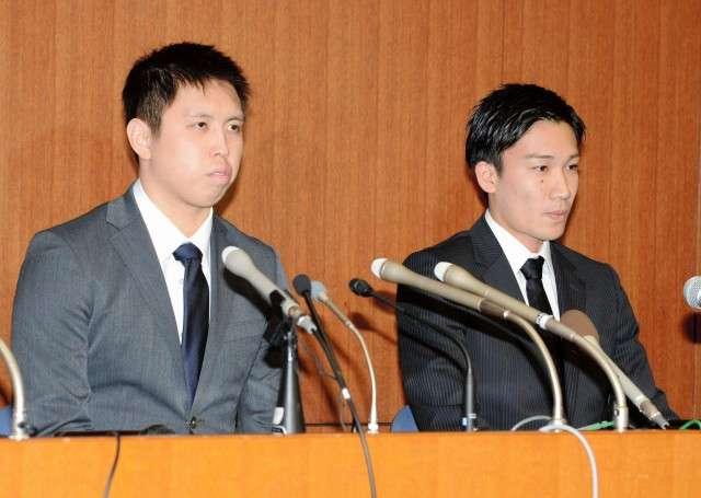バドミントン選手賭博 田児、桃田選手が記者会見で謝罪