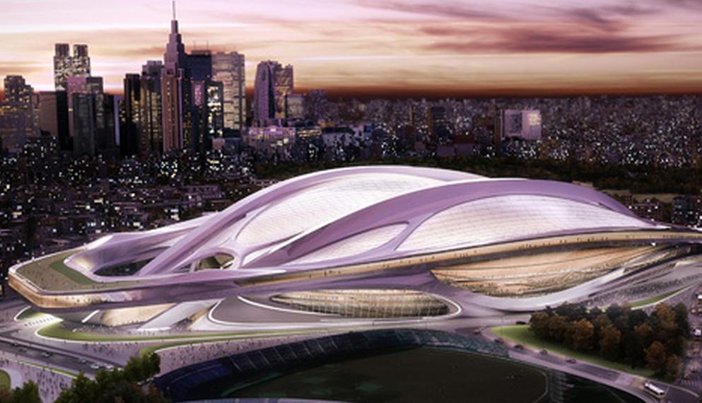 【訃報】建築家のザハ・ハディドさん死去、新国立競技場の当初のデザイン案。