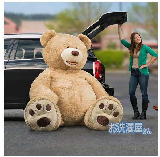 【画像】コストコでクマのぬいぐるみを買ったら、持ち帰り方がこれしかなかった(笑)