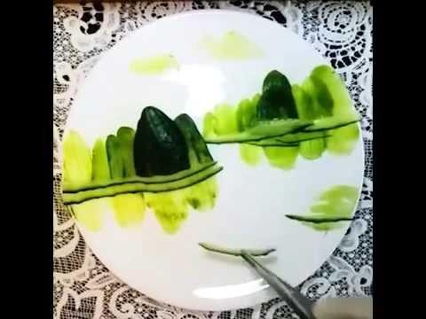 中華料理人の芸術展示 - YouTube