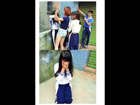 女子生徒を集団リンチ→全裸画像をネットにアップ 死者も続出する、中国「いじめ」の実態 - YouTube