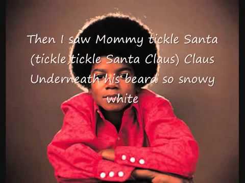 The Jackson 5 I saw Mommy kissing Santa Claus with lyrics - YouTube