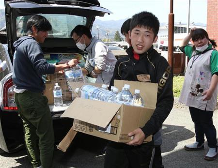熊本地震 避難所支える中高生 「生まれ育った南阿蘇のため」 (産経新聞) - Yahoo!ニュース
