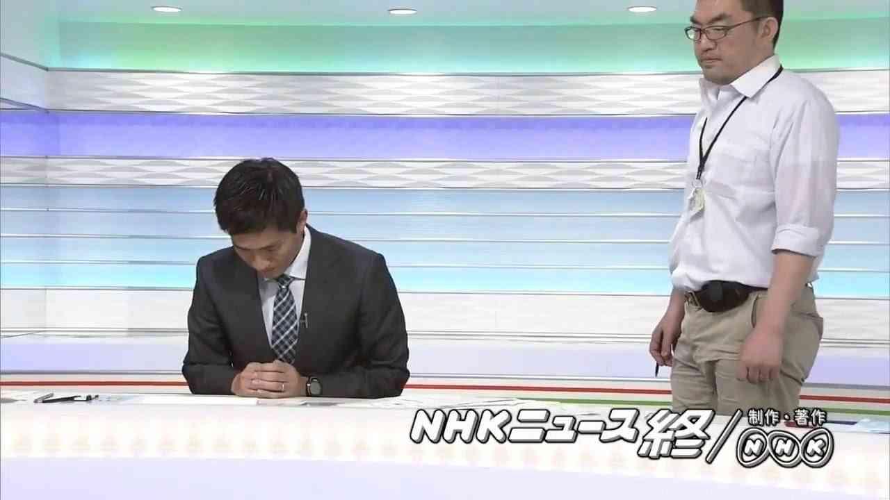 NHKの放送事故があまりにも可哀想だったから、スタッフさんにギュッとしたら消える能力授けてあげた - YouTube