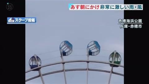 【動画】強風で観覧車がとんでもないことに! 絶叫マシンより怖い