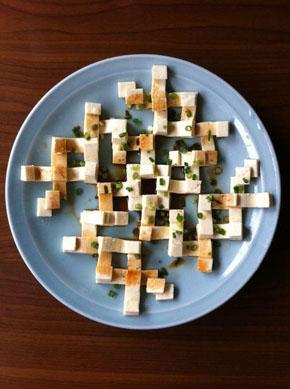 冷や奴がアートに昇華!?豆腐を積み重ねて作った「トーフ・アート」がきれいでおいしそう