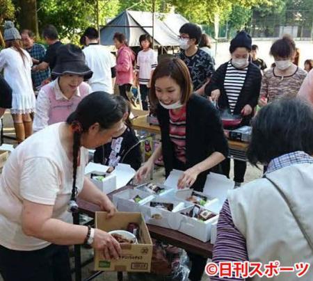 紗栄子がお忍びで熊本でボランティア ショウガ焼き振る舞う