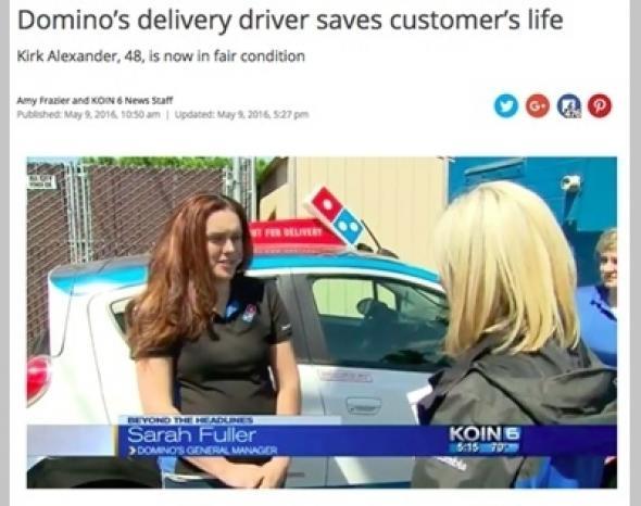 「11日間も注文がない……」 ドミノ・ピザの店員が顧客の命を救う(ひみつの☆ハリウッドファイル) - 女性自身[光文社女性週刊誌]