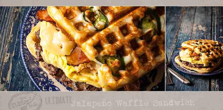Ultimate Jalapeño Waffle Sandwich Recipe   Little Rusted Ladle